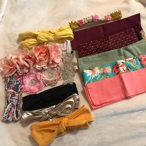 Bundle of baby/toddler headbands & head wraps